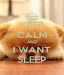 KEEP CALM AND I WANT SLEEP - Personalised Poster A4 size