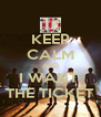 KEEP CALM AND I WANT  THE TICKET - Personalised Poster A4 size