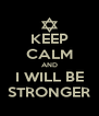 KEEP CALM AND I WILL BE STRONGER - Personalised Poster A4 size