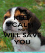 KEEP CALM AND I WILL SAVE YOU - Personalised Poster A4 size