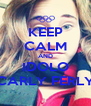 KEEP CALM AND IDOLO CARLY FERLY - Personalised Poster A4 size