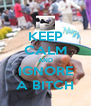 KEEP CALM AND IGNORE A BITCH - Personalised Poster A4 size