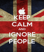 KEEP CALM AND IGNORE PEOPLE - Personalised Poster A4 size