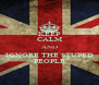 KEEP CALM AND IGNORE THE STUPED PEOPLE - Personalised Poster A4 size