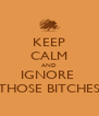 KEEP CALM AND IGNORE  THOSE BITCHES - Personalised Poster A4 size