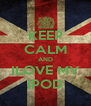 KEEP CALM AND ILOVE MY IPOD - Personalised Poster A4 size