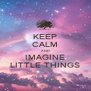 KEEP CALM AND IMAGINE LITTLE THINGS - Personalised Poster A4 size