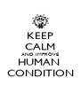 KEEP CALM AND IMPROVE HUMAN  CONDITION - Personalised Poster A4 size