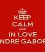 KEEP CALM AND IN LOVE ANDRE GABORE - Personalised Poster A4 size