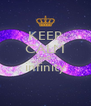 KEEP CALM AND infinity  - Personalised Poster A4 size