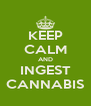 KEEP CALM AND INGEST CANNABIS - Personalised Poster A4 size