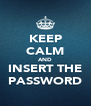 KEEP CALM AND INSERT THE PASSWORD - Personalised Poster A4 size
