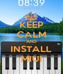 KEEP CALM AND INSTALL MIUI - Personalised Poster A4 size