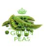 KEEP CALM AND INTAKE MORE GREEN PEAS - Personalised Poster A4 size