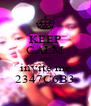 KEEP CALM AND invite me 2347C6B3 - Personalised Poster A4 size