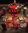 KEEP CALM AND IT'S YUMMY - Personalised Poster A4 size
