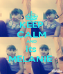 KEEP CALM AND its MELANIE  - Personalised Poster A4 size