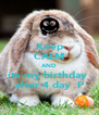 Keep CALM AND its my birthday  after 4 day :P - Personalised Poster A4 size