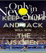 KEEP CALM AND JACK WILL WIN  THE US OPEN - Personalised Poster A4 size