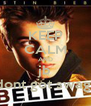 KEEP CALM AND jb dont got swag! - Personalised Poster A4 size