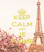 KEEP CALM AND JE T'AIME - Personalised Poster A4 size