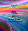 KEEP CALM AND JOGUE FORA O PRECONCEITO - Personalised Poster A4 size