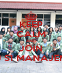 KEEP CALM AND JOIN HMJ S1 MANAJEMEN - Personalised Poster A4 size