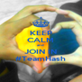 KEEP CALM and JOIN IN #TeamHash - Personalised Poster A4 size