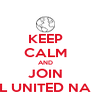 KEEP CALM AND JOIN MODEL UNITED NATIONS - Personalised Poster A4 size