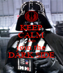 KEEP CALM AND join the DARK SIDE - Personalised Poster A4 size