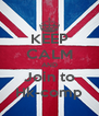 KEEP CALM AND Join to Hk-comp - Personalised Poster A4 size