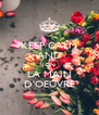 KEEP CALM AND JON LA MAIN D'OEUVRE - Personalised Poster A4 size