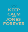 KEEP CALM AND JONES  FOREVER - Personalised Poster A4 size
