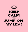 KEEP CALM AND JUMP ON MY LEVS - Personalised Poster A4 size