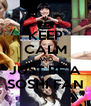 KEEP CALM AND JUST BE A SOSHI FAN - Personalised Poster A4 size