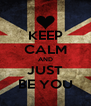 KEEP CALM AND JUST BE YOU - Personalised Poster A4 size