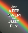 KEEP CALM AND JUST FLY - Personalised Poster A4 size