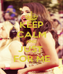 KEEP CALM AND JUST  FOR ME - Personalised Poster A4 size