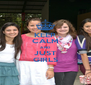 KEEP CALM AND JUST GIRLS - Personalised Poster A4 size