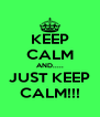KEEP CALM AND..... JUST KEEP CALM!!! - Personalised Poster A4 size