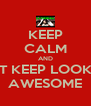 KEEP CALM AND JUST KEEP LOOKING AWESOME - Personalised Poster A4 size