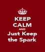 KEEP CALM AND Just Keep the Spark - Personalised Poster A4 size