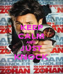 KEEP CALM AND JUST KNOCK - Personalised Poster A4 size