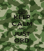 KEEP CALM AND JUST ORD - Personalised Poster A4 size