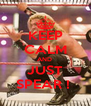 KEEP CALM AND  JUST SPEAR !  - Personalised Poster A4 size