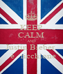 KEEP CALM AND Justin Bieber    è   ricchione - Personalised Poster A4 size