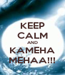 KEEP CALM AND KAMEHA MEHAA!!! - Personalised Poster A4 size