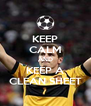 KEEP CALM AND KEEP A CLEAN SHEET - Personalised Poster A4 size
