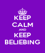 KEEP CALM AND KEEP BELIEBING - Personalised Poster A4 size