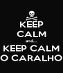 KEEP CALM and... KEEP CALM O CARALHO - Personalised Poster A4 size
